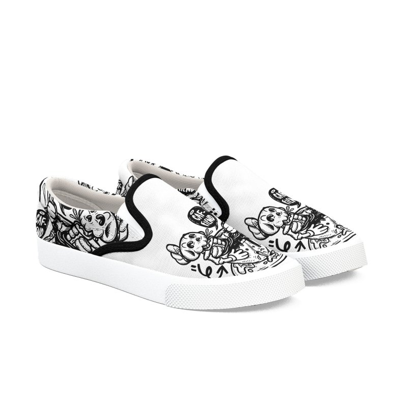 Caf Fiend Women's Slip-On Shoes by RevengeLover's Corner of the Web