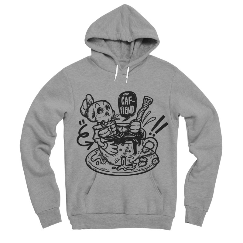 Caf Fiend Men's Sponge Fleece Pullover Hoody by RevengeLover's Corner of the Web