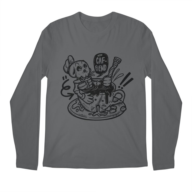 Caf Fiend Men's Longsleeve T-Shirt by RevengeLover's Corner of the Web