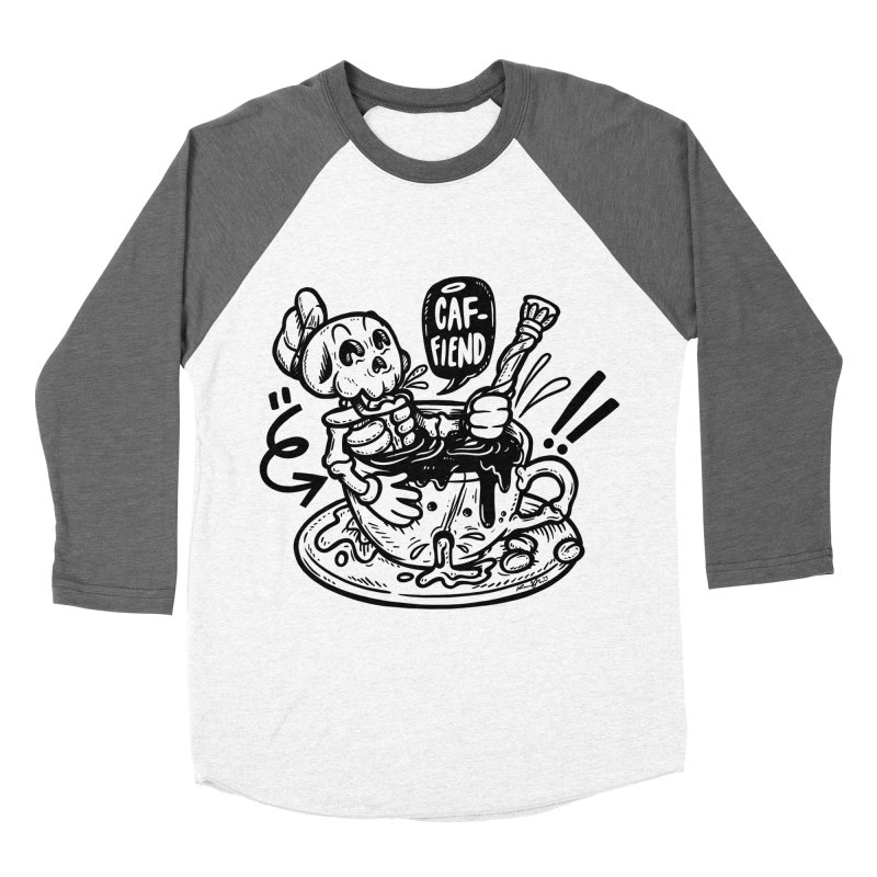Caf Fiend Men's Baseball Triblend Longsleeve T-Shirt by RevengeLover's Corner of the Web