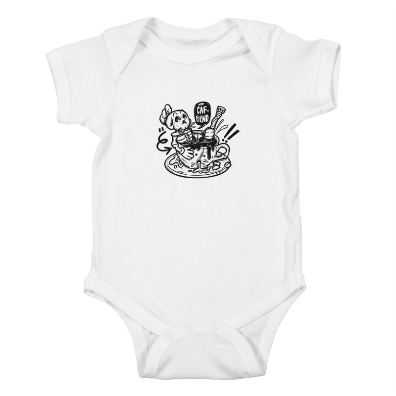 Caf Fiend Kids Baby Bodysuit by RevengeLover's Corner of the Web