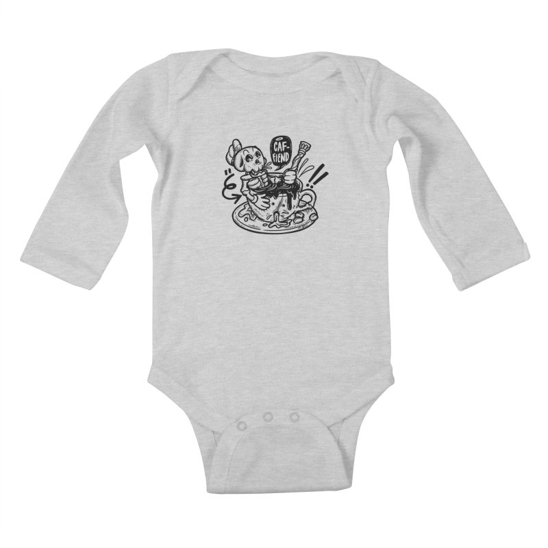 Caf Fiend Kids Baby Longsleeve Bodysuit by RevengeLover's Corner of the Web