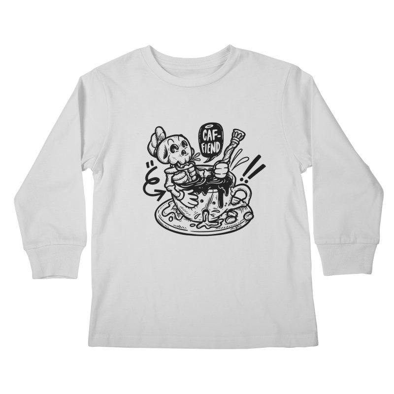 Caf Fiend Kids Longsleeve T-Shirt by RevengeLover's Corner of the Web