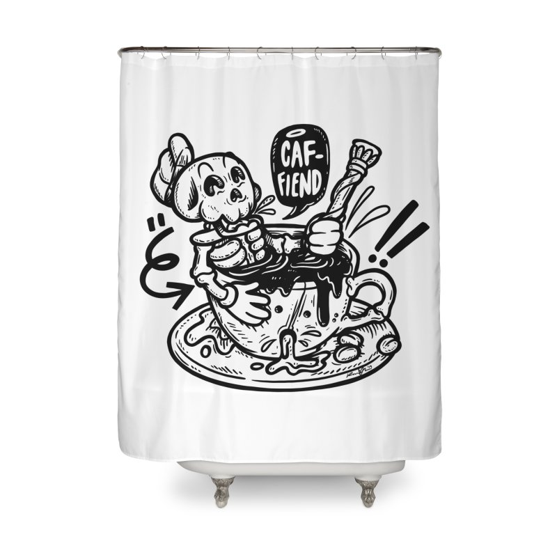Caf Fiend Home Shower Curtain by RevengeLover's Corner of the Web