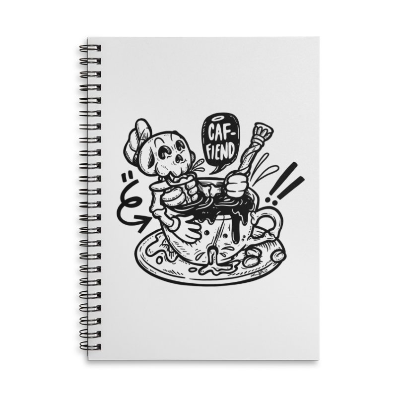 Caf Fiend Accessories Lined Spiral Notebook by RevengeLover's Corner of the Web