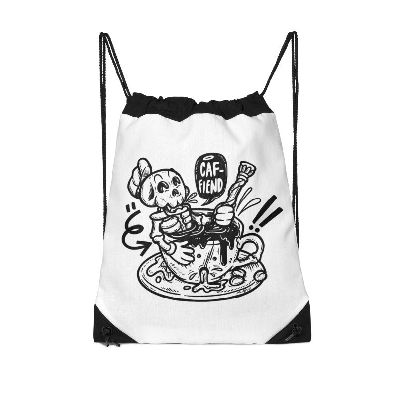 Caf Fiend Accessories Drawstring Bag Bag by RevengeLover's Corner of the Web