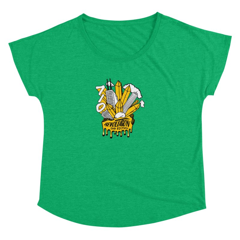 710 - Dab Edition in Women's Dolman Scoop Neck Heather Green by RevolutionTradingCo