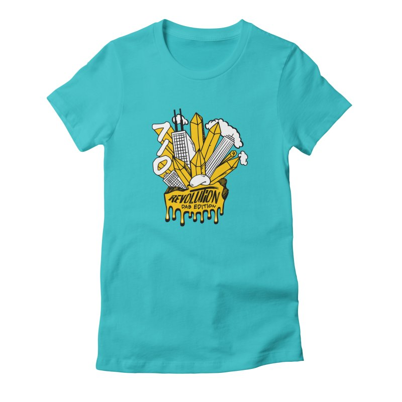 710 - Dab Edition in Women's Fitted T-Shirt Pacific Blue by RevolutionTradingCo