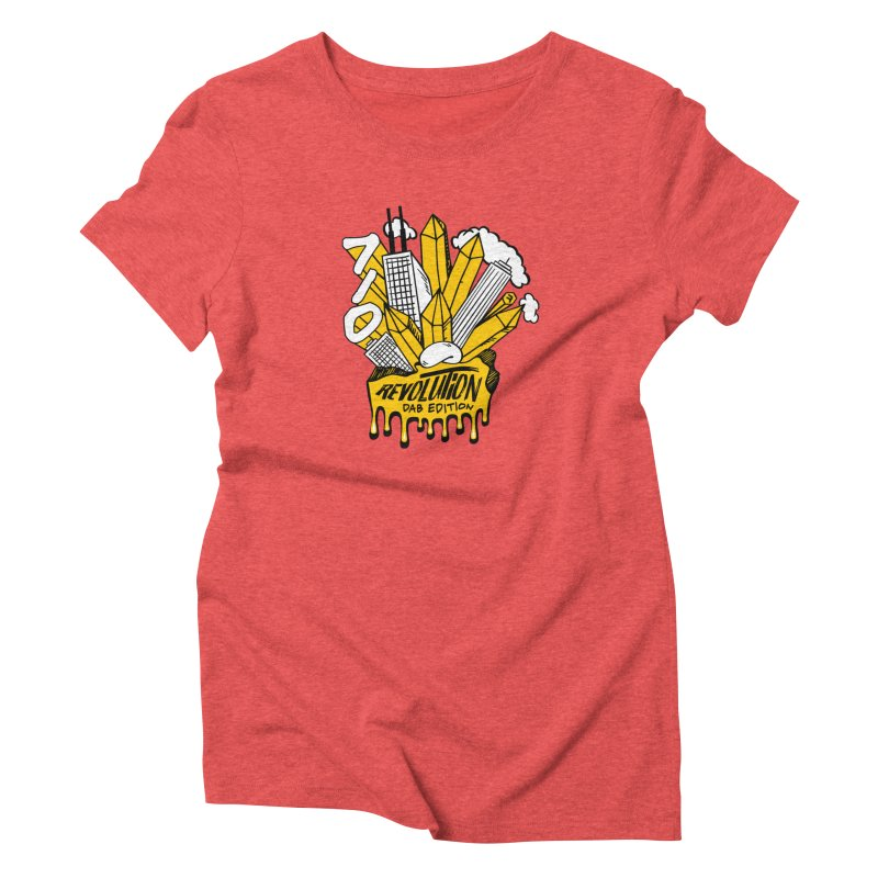 710 - Dab Edition in Women's Triblend T-Shirt Chili Red by RevolutionTradingCo