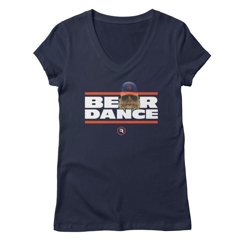 Bear Dance Stripes Women's Regular V-Neck by RevolutionTradingCo