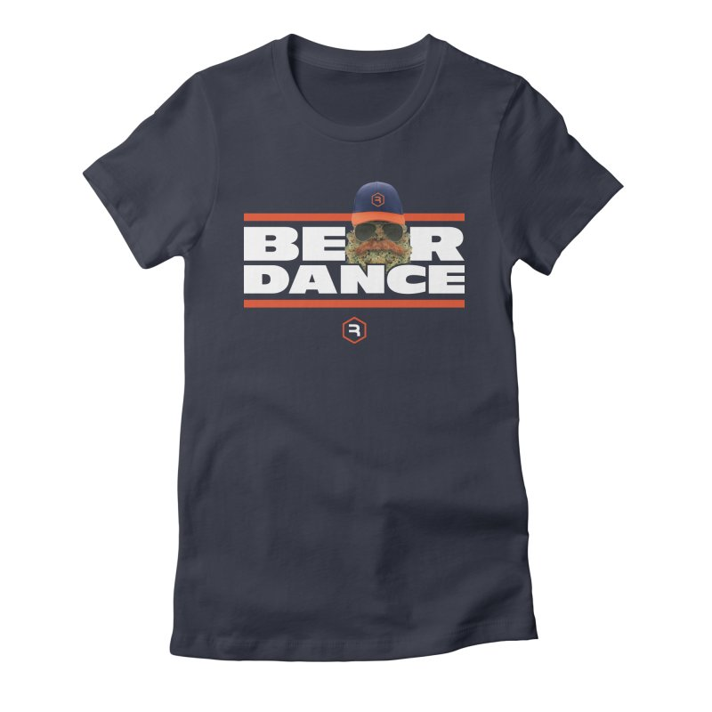 Bear Dance Stripes Women's Fitted T-Shirt by RevolutionTradingCo