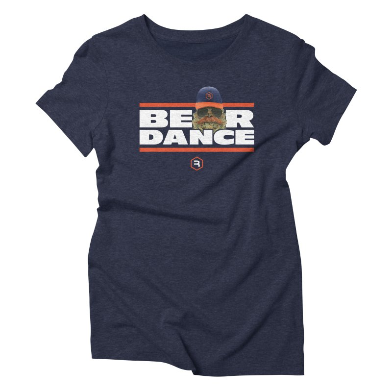 Bear Dance Stripes Women's Triblend T-Shirt by RevolutionTradingCo
