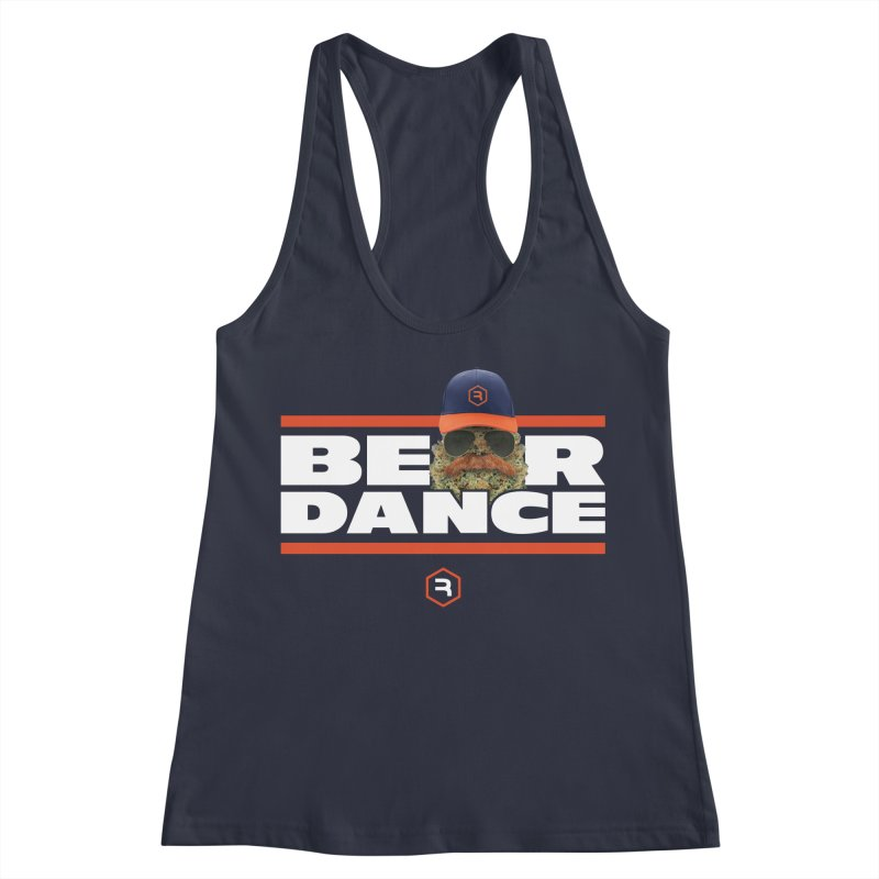 Bear Dance Stripes Women's Racerback Tank by RevolutionTradingCo
