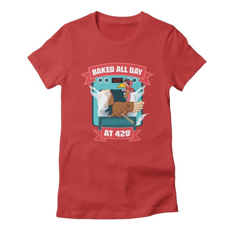 Turkey Leg Women's Fitted T-Shirt by RevolutionTradingCo