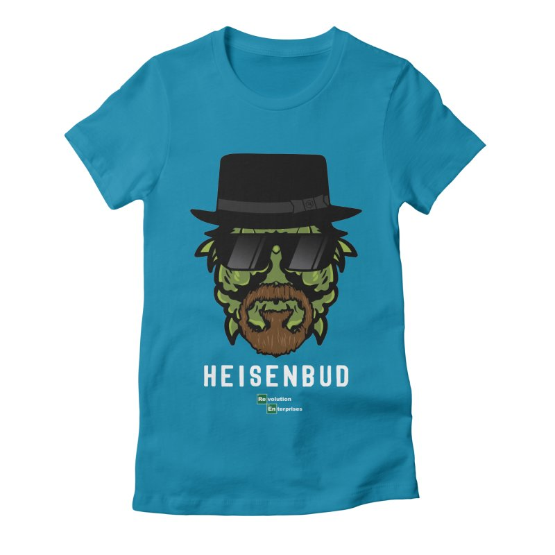 Heisenbud in Women's Fitted T-Shirt Turquoise by RevolutionTradingCo