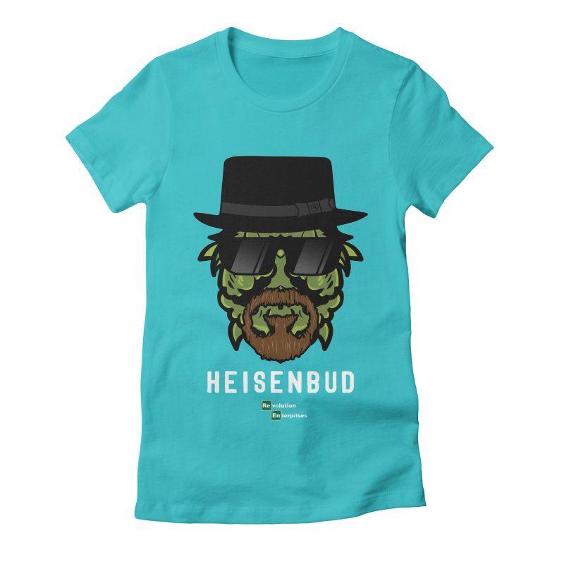 Heisenbud in Women's Fitted T-Shirt Pacific Blue by RevolutionTradingCo