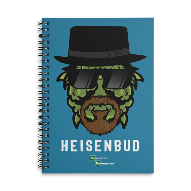 Heisenbud Accessories Lined Spiral Notebook by RevolutionTradingCo