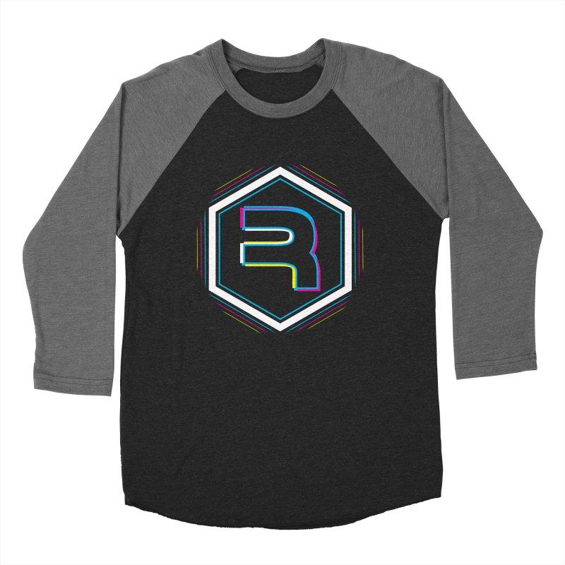 Rev Vibes in Men's Baseball Triblend Longsleeve T-Shirt Grey Triblend Sleeves by RevolutionTradingCo