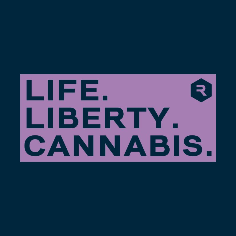 Life. Liberty. Cannabis. Women's V-Neck by RevolutionTradingCo