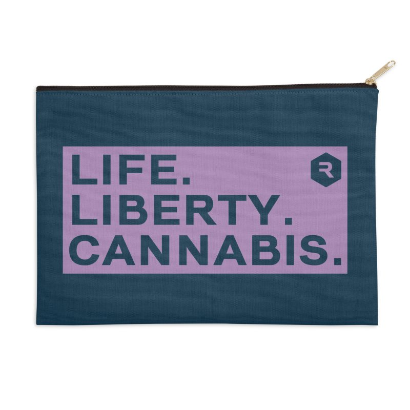 Life. Liberty. Cannabis. Accessories Zip Pouch by RevolutionTradingCo