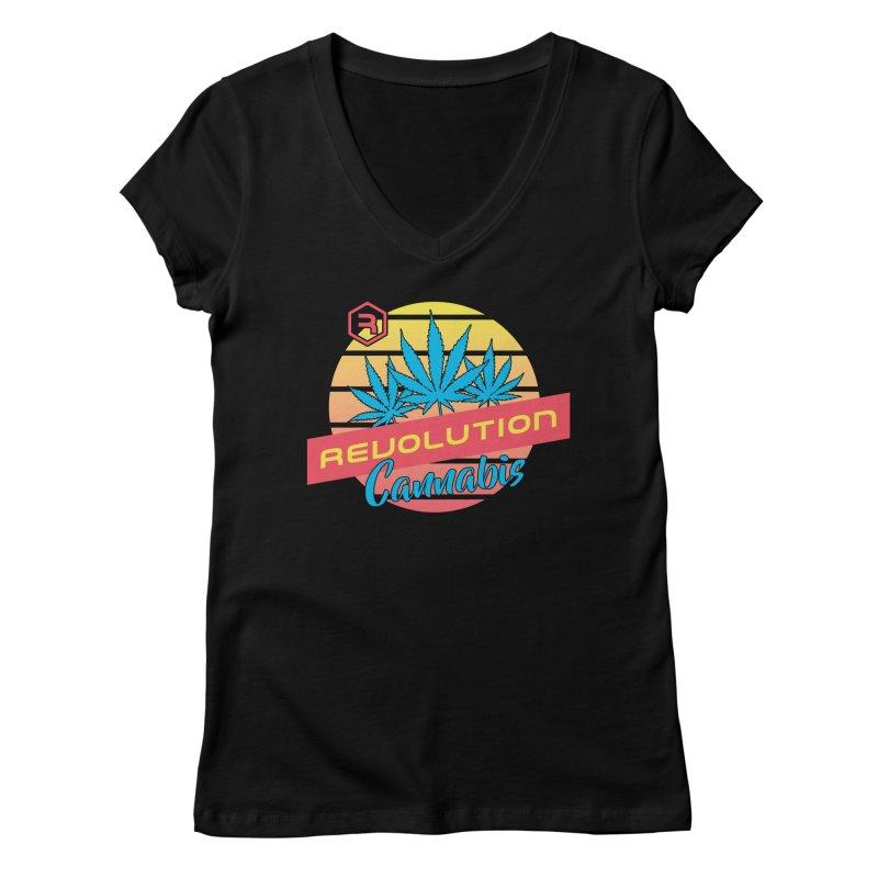 Revolution Sunset Women's Regular V-Neck by RevolutionTradingCo