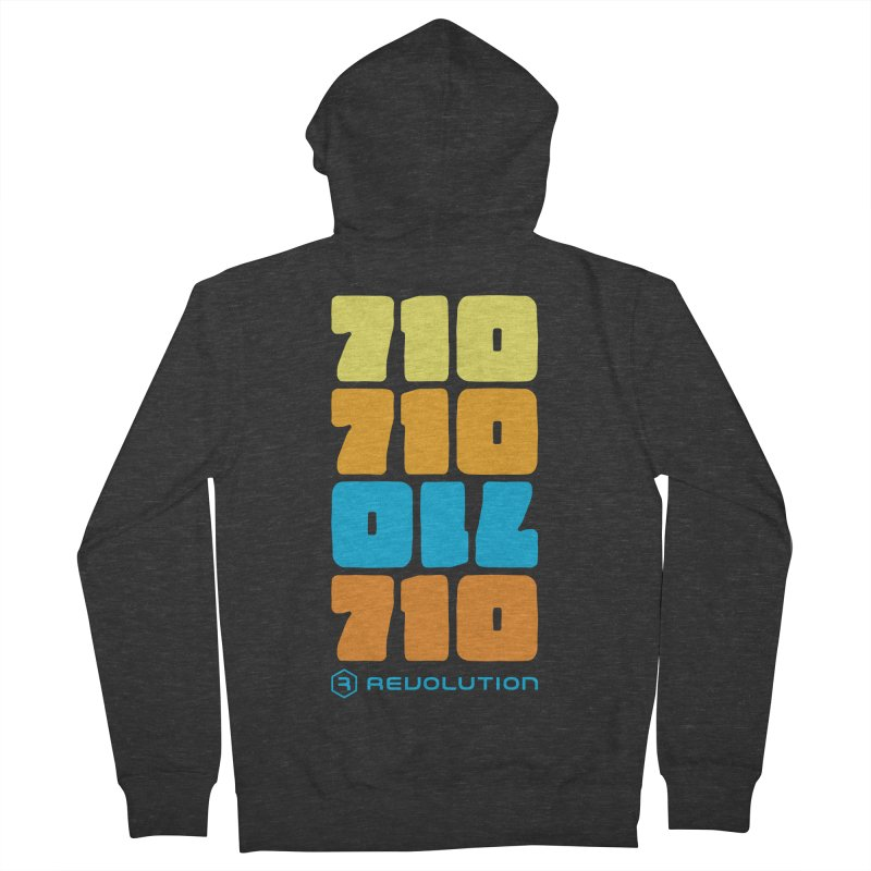 710 710 OIL 710 Men's French Terry Zip-Up Hoody by RevolutionTradingCo