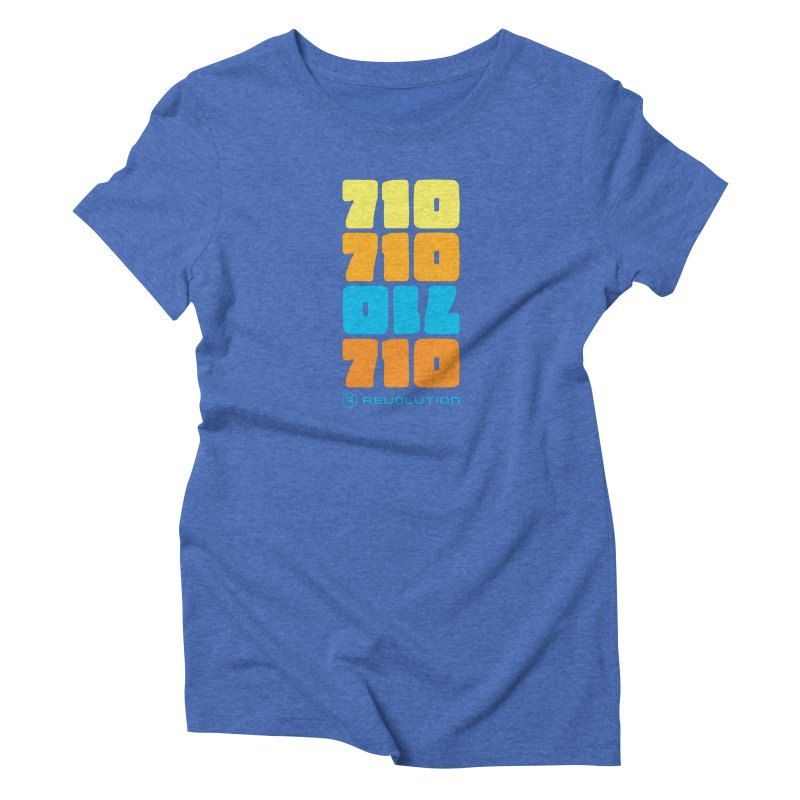 710 710 OIL 710 in Women's Triblend T-Shirt Blue Triblend by RevolutionTradingCo