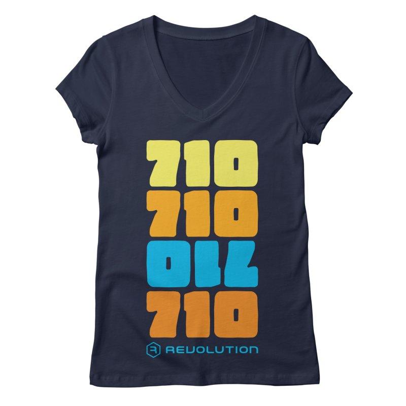 710 710 OIL 710 Women's Regular V-Neck by RevolutionTradingCo