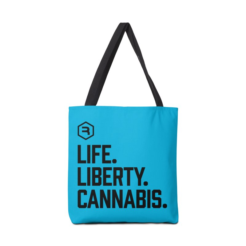 Life. Liberty. Cannabis. in Tote Bag by RevolutionTradingCo
