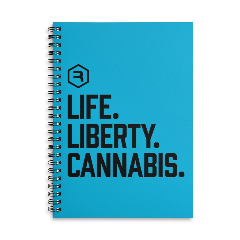 Life. Liberty. Cannabis. in Lined Spiral Notebook by RevolutionTradingCo