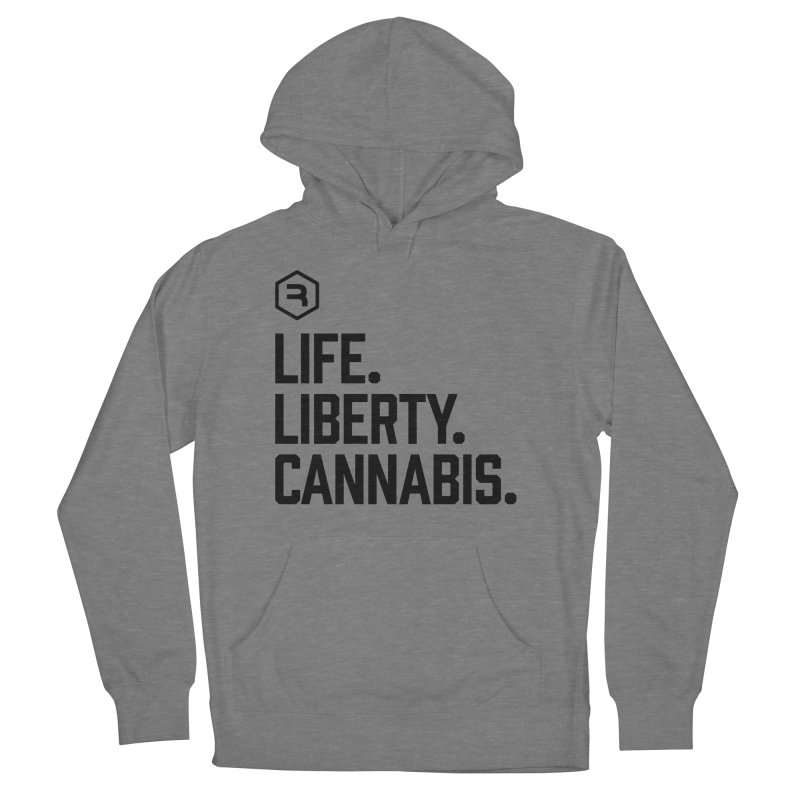 Life. Liberty. Cannabis. in Men's French Terry Pullover Hoody Heather Graphite by RevolutionTradingCo