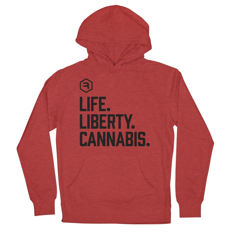 Life. Liberty. Cannabis. Men's French Terry Pullover Hoody by RevolutionTradingCo