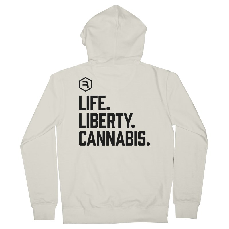 Life. Liberty. Cannabis. Women's French Terry Zip-Up Hoody by RevolutionTradingCo
