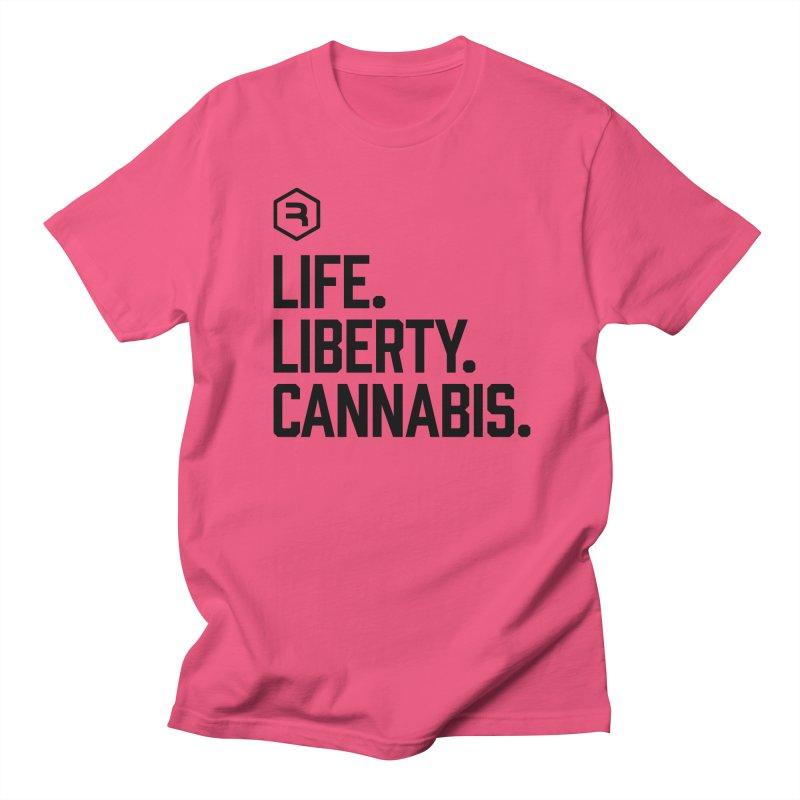 Life. Liberty. Cannabis. Men's Regular T-Shirt by RevolutionTradingCo