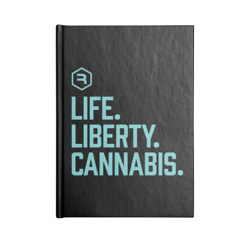 Life. Liberty. Cannabis. (Teal) in Blank Journal Notebook by RevolutionTradingCo