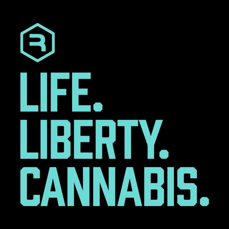 Life. Liberty. Cannabis. (Teal) Men's Tank by RevolutionTradingCo