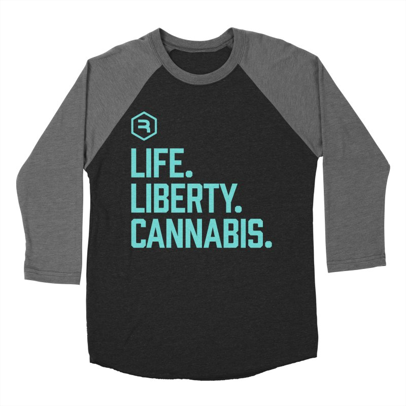 Life. Liberty. Cannabis. (Teal) Women's Baseball Triblend Longsleeve T-Shirt by RevolutionTradingCo