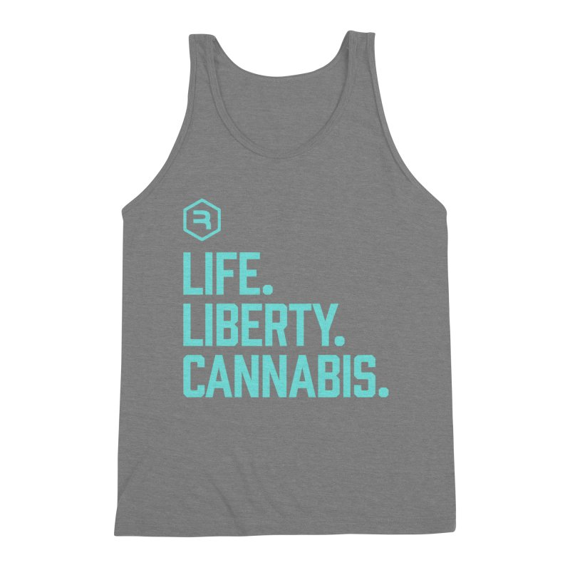 Life. Liberty. Cannabis. (Teal) Men's Triblend Tank by RevolutionTradingCo