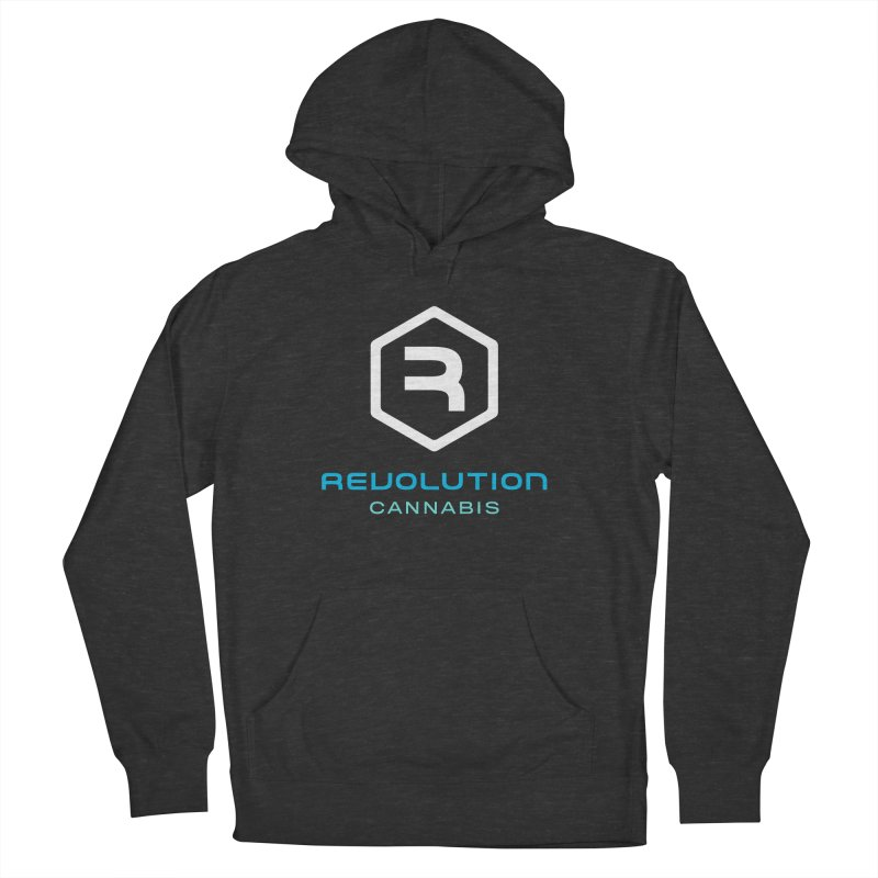 Revolution Cannabis Logo in Men's French Terry Pullover Hoody Smoke by RevolutionTradingCo