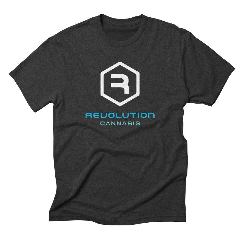 Revolution Cannabis Logo in Men's Triblend T-Shirt Heather Onyx by RevolutionTradingCo