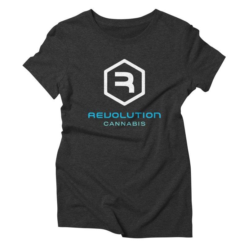 Revolution Cannabis Logo in Women's Triblend T-Shirt Heather Onyx by RevolutionTradingCo