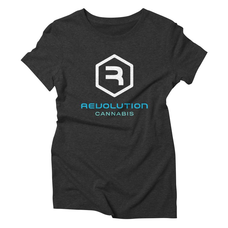 Revolution Cannabis Logo in Women's Triblend T-Shirt Heather Onyx by RevolutionTradingCo