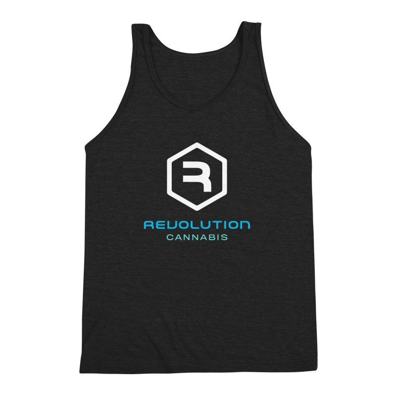 Revolution Cannabis Logo Men's Triblend Tank by RevolutionTradingCo
