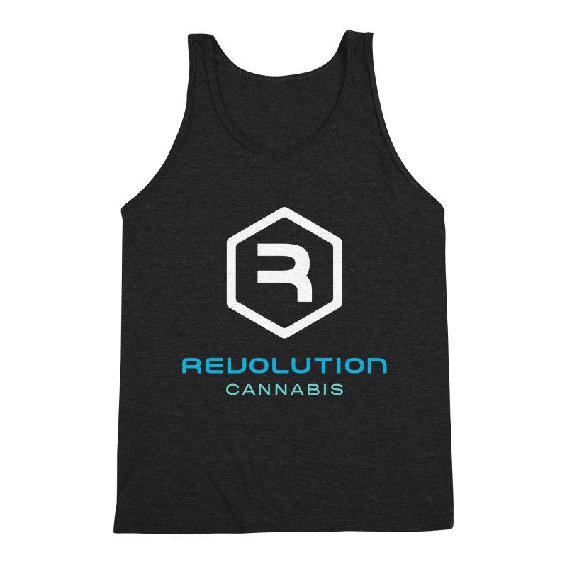 Revolution Cannabis Logo Men's Triblend Tank by RevolutionTradingCo