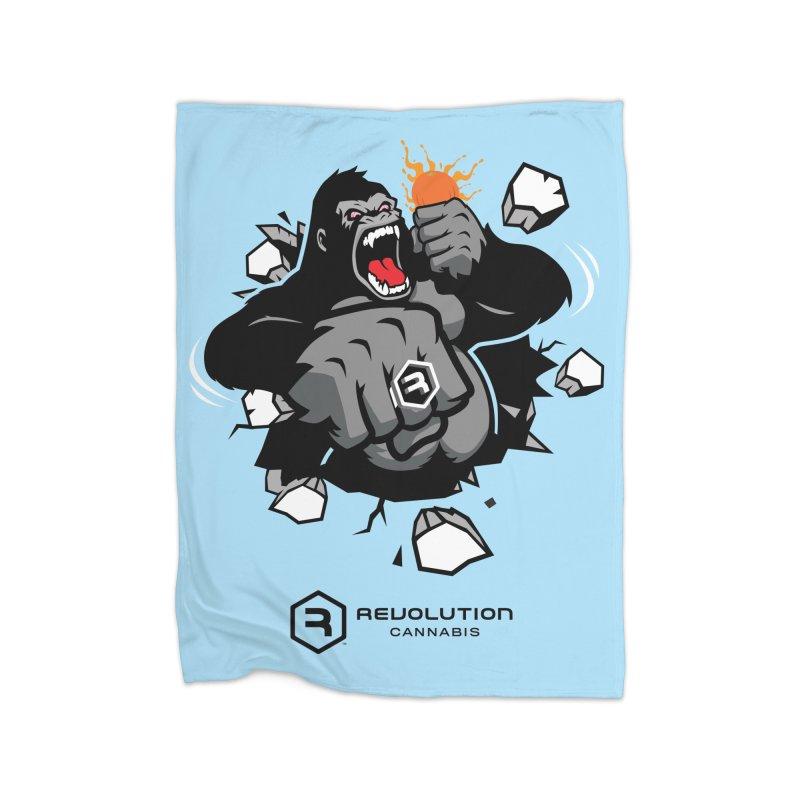 Gorilla Punch Home Fleece Blanket Blanket by RevolutionTradingCo