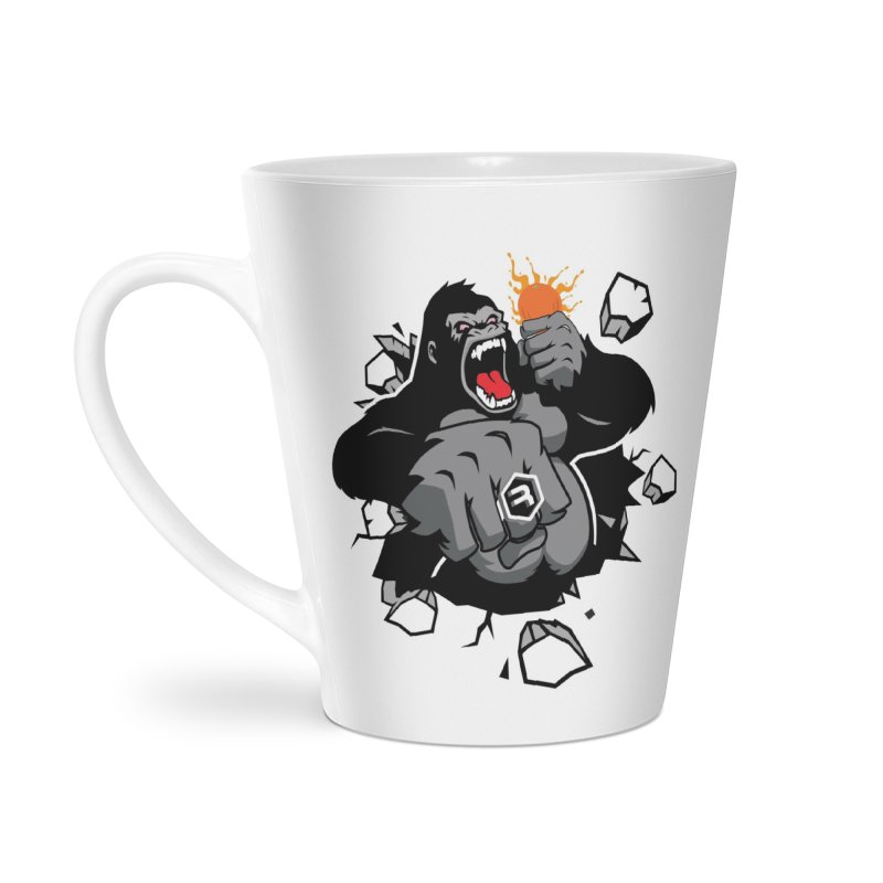 Gorilla Punch in Latte Mug by RevolutionTradingCo