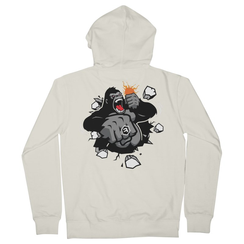 Gorilla Punch in Women's French Terry Zip-Up Hoody Heather Oatmeal by RevolutionTradingCo