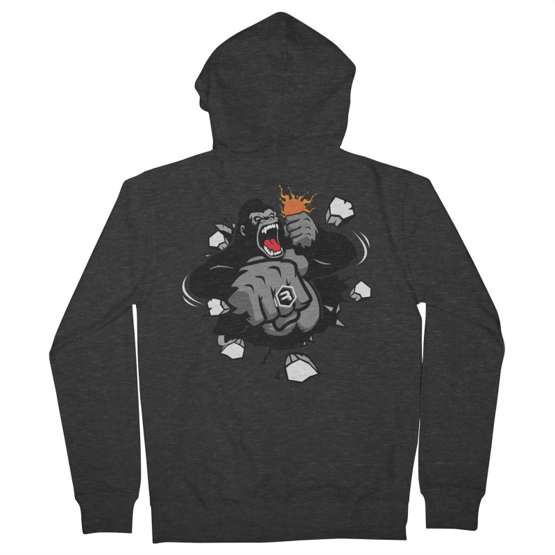 Gorilla Punch Women's French Terry Zip-Up Hoody by RevolutionTradingCo