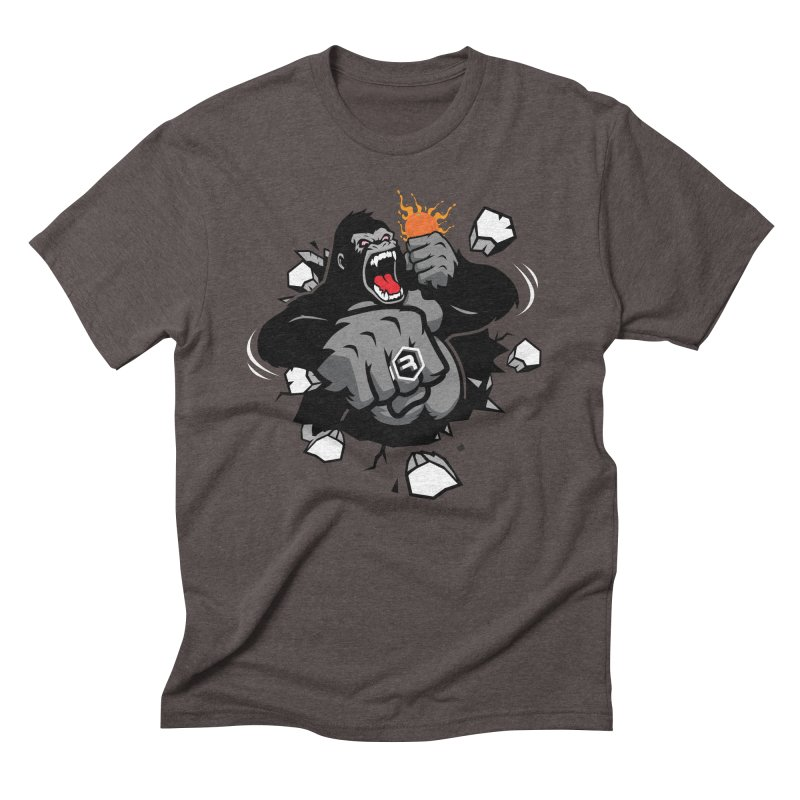 Gorilla Punch in Men's Triblend T-Shirt Tri-Coffee by RevolutionTradingCo