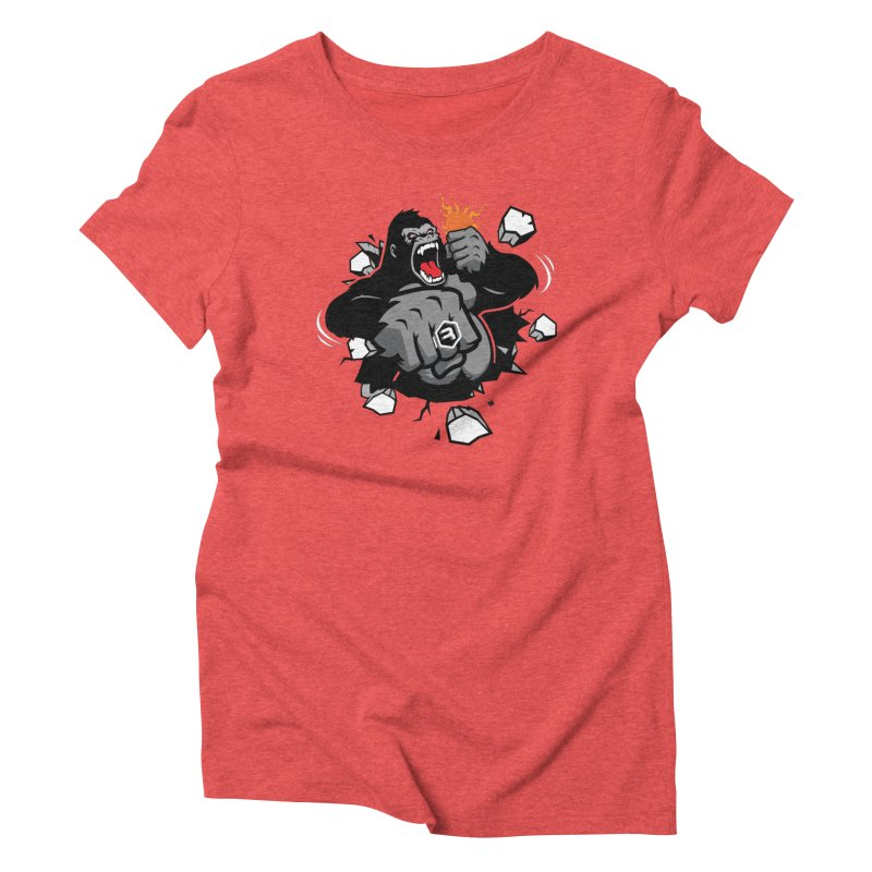 Gorilla Punch in Women's Triblend T-Shirt Chili Red by RevolutionTradingCo